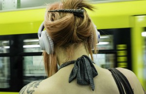 woman with headphones 2